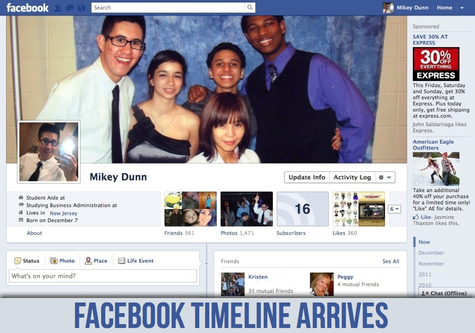"Facebook plans to kill off the profile page in favor of the new ""Timeline"" page."